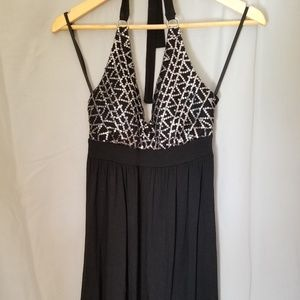 Bebe Black Halter Dress